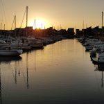 Coucher de soleil sur la Marina